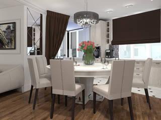 """Дизайн-проект """"Современная классика"""" Столовая комната в классическом стиле от Дизайн-студия HOLZLAB Классический"""