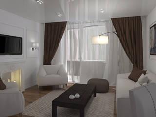 """Дизайн-проект """"Современная классика"""" Гостиная в классическом стиле от Дизайн-студия HOLZLAB Классический"""