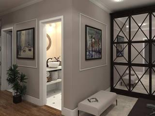 """Дизайн-проект """"Современная классика"""" Коридор, прихожая и лестница в классическом стиле от Дизайн-студия HOLZLAB Классический"""