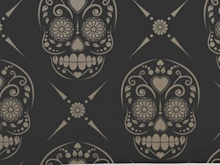 Candy Skull Repeat: modern  by Stencil Up, Modern
