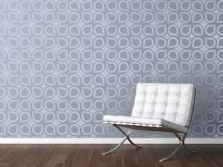 Geometric & Retro wall stencils:   by Stencil Up