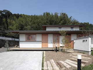 山道勉建築 Asian style houses Wood White