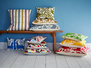 Hand embroidered Mexican cushions: modern  by Montes & Clark, Modern