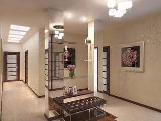 СМЕЛАЯ ИДЕЯ. Коридор, прихожая и лестница в модерн стиле от Студия Поминовой Анны Модерн