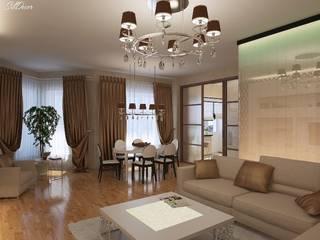 Дизайн интерьера гостиной квартиры в м-он Чистый.: Гостиная в . Автор – Студия Поминовой Анны