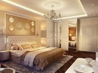 Роскошь классики Спальня в классическом стиле от Студия Поминовой Анны Классический