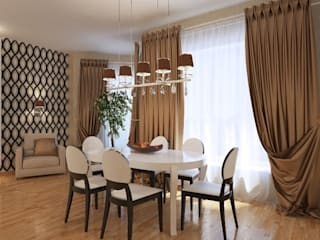 Дизайн интерьера столовой зоны квартиры в м-он Чистый.: Столовые комнаты в . Автор – Студия Поминовой Анны