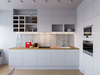 Scandinavian style kitchen by Kristina Petraitis Design House Scandinavian