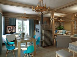 Деревянный дом в Рождественно: Кухни в . Автор – BM Architects