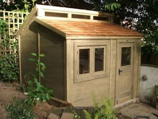 Bespoke contemporary style shed :  Garden by The Posh Shed Company