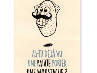Affiche/ Poster rhumoristique éalisé à la main encre et feutre par Millie & Ubu Minimaliste