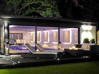 Pool House Leighton Home Style Modern style gardens