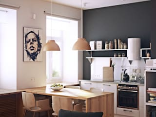 Scandinavian style kitchen by sreda Scandinavian