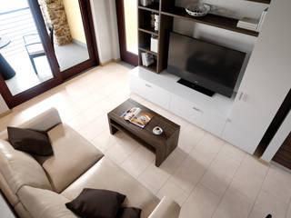 Appartamento Terre Gialle Resort - Living 01: Soggiorno in stile  di Fisheye Studio di Paolo Mazzoccato