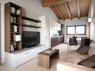 Appartamento Terre Gialle Resort - Living 02: Soggiorno in stile  di Fisheye Studio di Paolo Mazzoccato