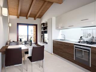 Appartamento Terre Gialle Resort - Cucina 01: Cucina in stile  di Fisheye Studio di Paolo Mazzoccato
