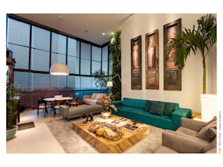 Living room by Arquitetura 3, Eclectic