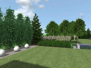 Klasyczny ogród w Garbach koło Poznania od Rock&Flower studio. Pracownia architektury krajobrazu. Klasyczny