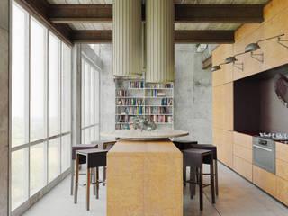 Cocinas de estilo industrial de Anton Medvedev Interiors Industrial