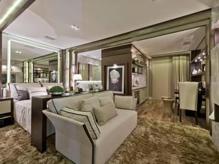 Riskalla & Mueller Arquitetura e Interiores Modern living room