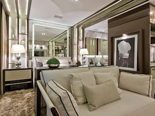 Dormitorios de estilo moderno de Riskalla & Mueller Arquitetura e Interiores Moderno