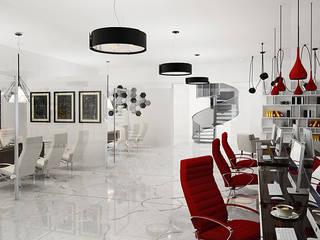 Complesso d'uffici in stile minimalista di Space - студия дизайна интерьера премиум класса Minimalista