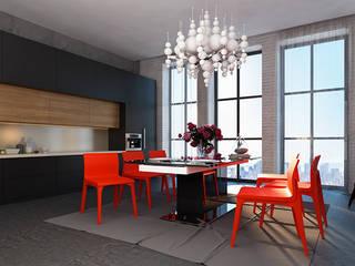 Industriële keukens van Space - студия дизайна интерьера премиум класса Industrieel