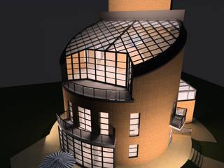Жилой дом с мастерской:  в . Автор – Studio Kamil Tsuntaev,