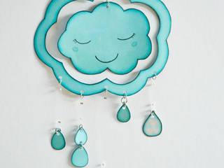 Petit mobile NUAGE double face (nuage endormi):  de style  par Les Petits Pois sont Bleus