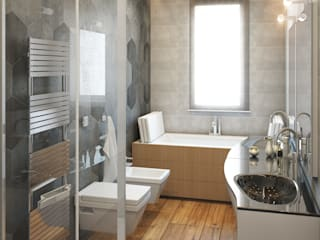 Modern style bathrooms by Beniamino Faliti Architetto Modern