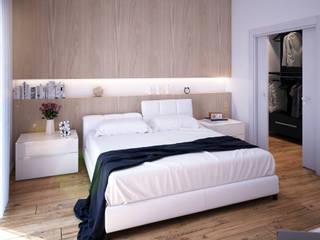 Chambre moderne par Beniamino Faliti Architetto Moderne