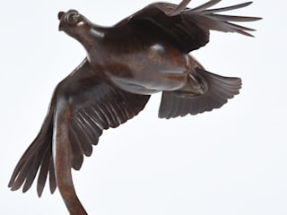Red Grouse in Flight od Martin hayward-Harris Sculpture Nowoczesny