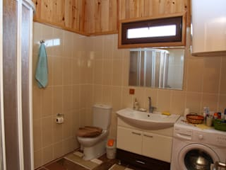 Wiejska łazienka od Kuloğlu Orman Ürünleri Wiejski
