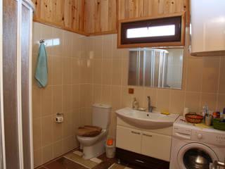 Kuloğlu Orman Ürünleri カントリースタイルの お風呂・バスルーム