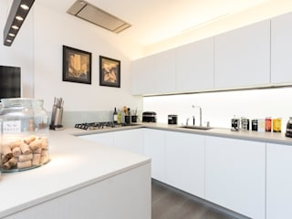 Kitchen splashback with white only LEDs:   by LiteTile Ltd