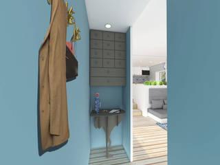 Studio 23m²: Couloir et hall d'entrée de style  par Aurélia Petitet