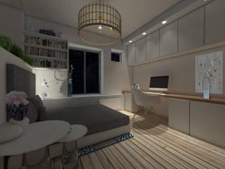 Studio 23m²: Chambre de style de style eclectique par Aurélia Petitet