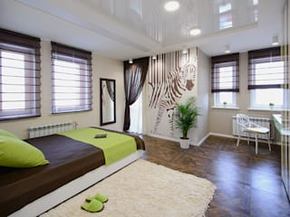 Eclectic style bedroom by Студия Анастасии Бархатовой Eclectic