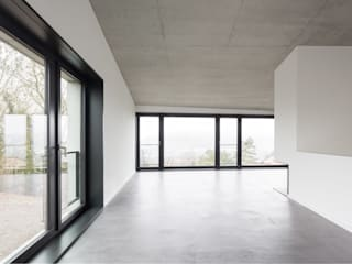 Jäger Zäh Architekten Soggiorno moderno