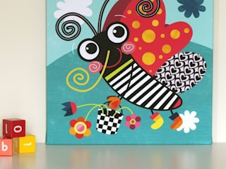 Butterfly Nursery Canvas by Witty Doodle:   by Witty Doodle