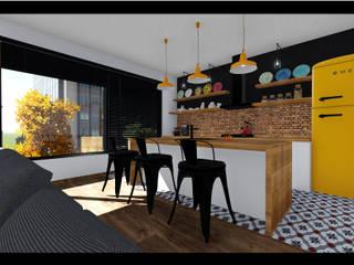 Ofis K Mimarlık ve Tasarım – OK-İÇ MİMARİ – S..B.. SALON VE MUTFAK:  tarz