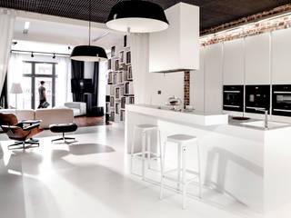 Apartament City Park Poznań: styl , w kategorii Kuchnia zaprojektowany przez Ostańska design