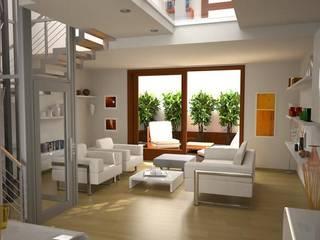 Interni - Living Soggiorno moderno di Studio di Architettura Fiorentini Associati Moderno