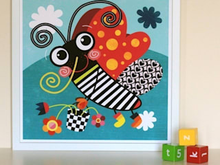 Butterfly Nursery Print by Witty Doodle:   by Witty Doodle