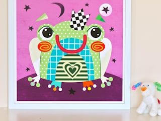 Fairytale Frog Nursery Print by Witty Doodle:   by Witty Doodle