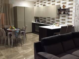S.Antonio Abate: living: Cucina in stile in stile Moderno di Giuliana Bellino architetto