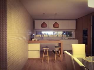 BARRO tiles at Lisbon Design Show: Cozinhas  por BARRO,Moderno