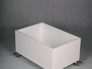 "White toy box ""Mini Mal"" NOBOBOBO Stanza dei bambiniContenitori"