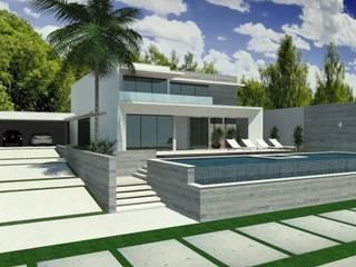Casas estilo moderno: ideas, arquitectura e imágenes de Cláudia de Andrade Arquitetura Moderno