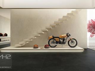 3D rendering | motorbike store: Negozi & Locali commerciali in stile  di MHP media | 3D Rendering